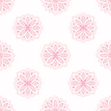 Linha papel de parede sem emenda da textura do teste padrão de flor da arte Fotografia de Stock