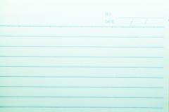 Linha papel do caderno imagens de stock royalty free