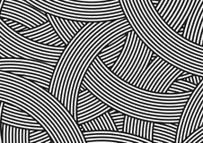 Linha paralela preto e branco circular teste padrão ilustração do vetor