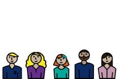 Linha pessoa no fundo branco ilustração stock