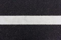 Linha pintada na estrada Fotografia de Stock