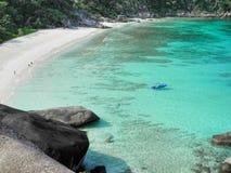 Linha praia da costa em Tailândia Fotografia de Stock
