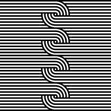 Linha preto e branco abstrata fundo da listra Fotografia de Stock Royalty Free