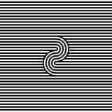 Linha preto e branco abstrata fundo da listra Fotografia de Stock