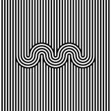 Linha preto e branco abstrata fundo da listra Foto de Stock