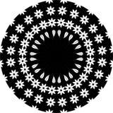 Linha preto e branco arte Mandala Illustration da folha floral Estrela, ilustração royalty free
