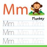 Linha projeto do desenho do macaco do vetor ilustração stock