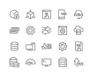 Linha que hospeda ícones ilustração royalty free