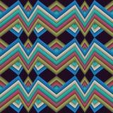 Linha quebrada do teste padrão abstrato heterogêneo Imagens de Stock Royalty Free