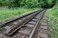 Linha railway da roda denteada fotos de stock royalty free