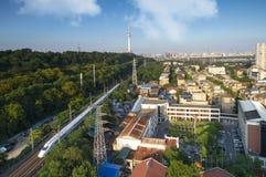 Linha railway de Wuhan Jingguang foto de stock royalty free