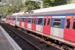 Linha Railway do Kowloon-Cantão, Hong Kong Foto de Stock