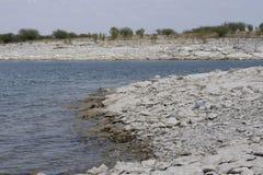 Linha reservatório da costa do lago de secagem do amistad imagens de stock royalty free