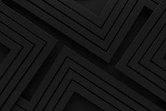 Linha retro rendição do fundo do teste padrão do vintage preto de 3d Fotografia de Stock Royalty Free