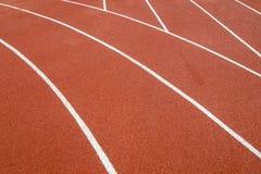 A linha running pistas da borracha da trilha Foto de Stock Royalty Free