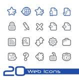 Linha série de //dos ícones da Web Fotos de Stock Royalty Free
