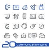 Linha série de //dos ícones de uma comunicação Fotos de Stock Royalty Free
