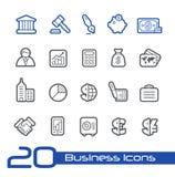 Linha série de //dos ícones do negócio & da finança Fotos de Stock