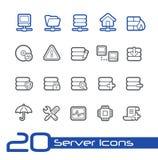 Linha série de //dos ícones do servidor Fotografia de Stock Royalty Free