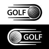 Linha símbolo do movimento da bola de golfe ilustração stock
