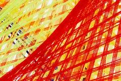 A linha santamente colorida faz crochê o teste padrão imagens de stock royalty free