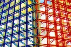 A linha santamente colorida faz crochê o teste padrão foto de stock