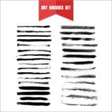 Linha seca tirada mão manchas da escova do grunge do vetor Foto de Stock Royalty Free