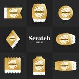 Linha selo postal do scrath da coleção Fotos de Stock Royalty Free