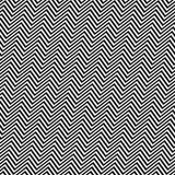 Linha sem emenda angular branca preta teste padrão do ziguezague ilustração do vetor