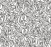 Linha sem emenda floral papel de parede do vetor Imagens de Stock Royalty Free