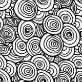 Linha sem emenda preta teste padrão dos círculos Foto de Stock
