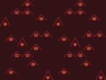 A linha simples abriga o teste padr?o sem emenda em escuro - vermelho com detalhes alaranjados ilustração stock