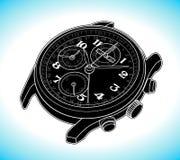 Linha simples ilustração do esboço do vetor do relógio de pulso Imagem de Stock