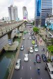 Linha Skytrain de Silom Fotografia de Stock