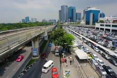 Linha Skytrain de Silom Fotos de Stock Royalty Free