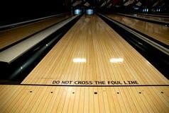 Linha suja na aléia de bowling Fotografia de Stock Royalty Free