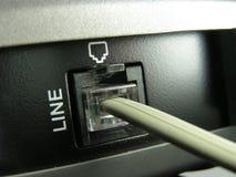 Linha telefónica jaque Foto de Stock