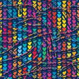 linha teste padrão sem emenda colorido da onda 3d do amor da raiz ilustração do vetor