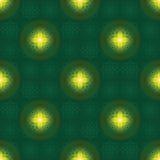 Linha teste padrão sem emenda da estrela da ramadã da lua brilhante da simetria ilustração stock