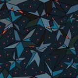 Linha teste padrão sem emenda da fatia da estrela do vintage azul Foto de Stock