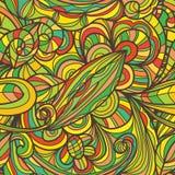 Linha teste padrão sem emenda da flor da folha Imagem de Stock