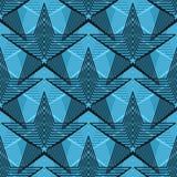Linha teste padrão sem emenda da simetria do vintage da estrela ilustração stock