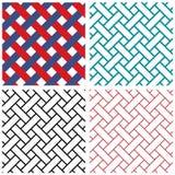Linha teste padrão do weave de india da tradição do vetor Fotografia de Stock