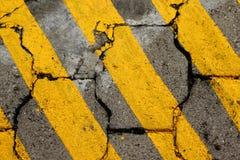 Linha textura da rua Fotografia de Stock Royalty Free