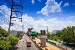Linha Trânsito-verde rápida maciça extensão de Banguecoque, Tailândia Foto de Stock