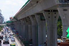 Linha Trânsito-verde rápida maciça extensão de Banguecoque, Tailândia Fotografia de Stock