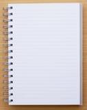 Linha vazia do caderno Fotografia de Stock