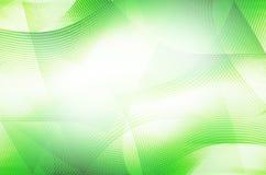 A linha verde abstrata curva o fundo Imagens de Stock Royalty Free