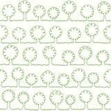 A linha verde sob a forma de uma árvore abstrata Fotografia de Stock Royalty Free