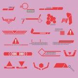 Linha vermelha da tecnologia moderna Ilustração do Vetor
